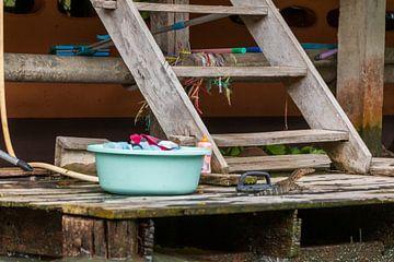 Leven aan de rivier in Thailand van Mirjam Welleweerd