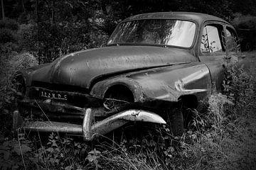 Simca Aronde schwarz/weiß von Ton van Waard - Pro-Moois