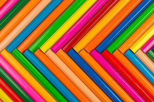 Kleurpotloden als achtergrond foto