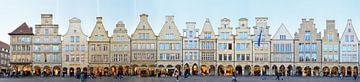 Münster Prinzipalmarkt Panorama von Panorama Streetline