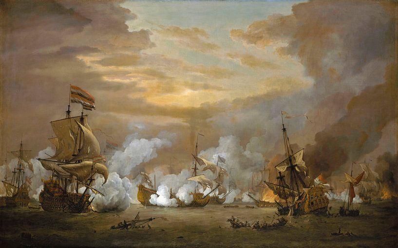La bataille du Texel, Willem van de Velde le Jeune sur Meesterlijcke Meesters