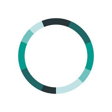 Monochromatique Schéma de couleurs Vert sur Michelle van Seters