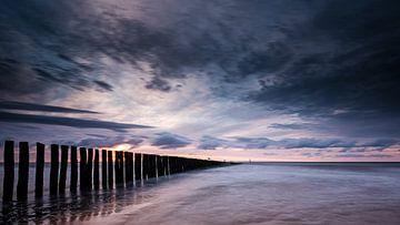 Sonnenuntergang in Cadzand-Bad von Eddy Westdijk