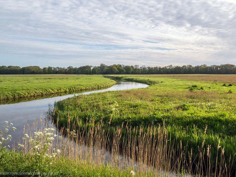Landschap met riviertje in Heiloo nabij Alkmaar van Ronald Smits