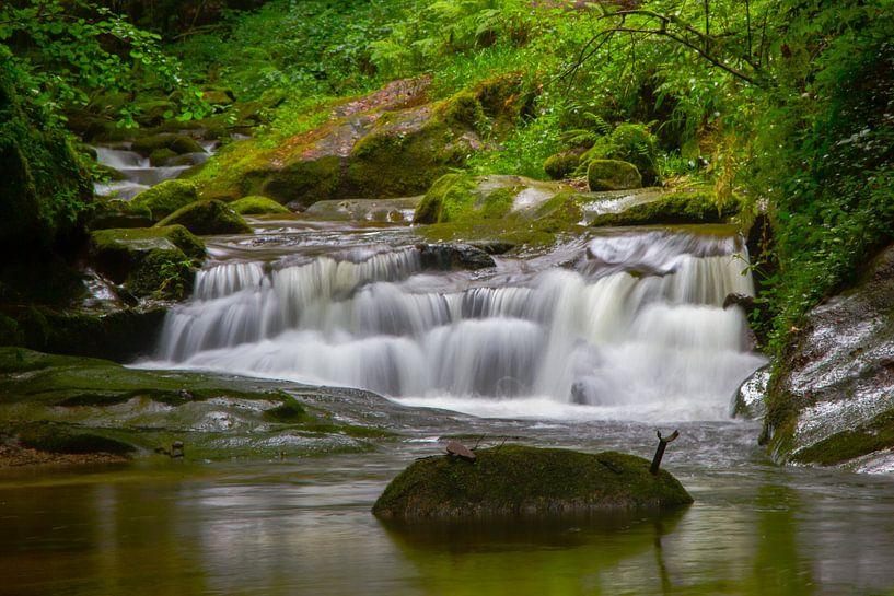 Grobbach-Wasserfälle bei Baden-Baden van Ursula Di Chito
