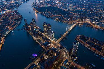 Luchtfoto: stadsbeeld van Rotterdam van Dawid Ziolkowski