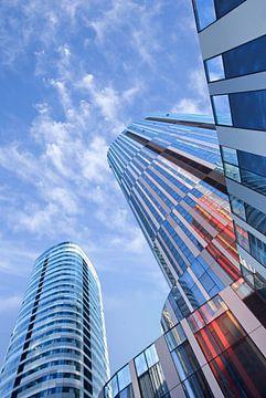 Futuristische kleurrijke architectuur op zakengebied van Tony Vingerhoets