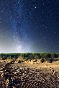 Melkweg boven de duinen