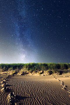 Melkweg boven de duinen sur