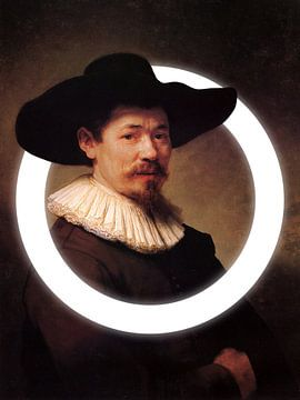 Rembrandt Herman Doomer met licht cirkel