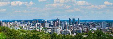 Panorama van de skyline van Montreal van Hans-Heinrich Runge