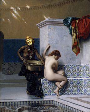 Türkisches Bad, Jean-Léon Gérôme von Atelier Liesjes