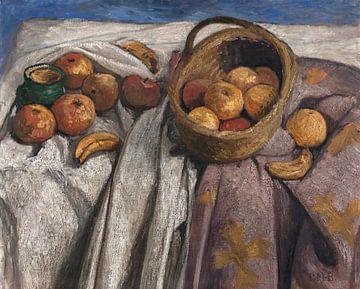 Stillleben mit Äpfeln und Bananen, Paula Modersohn-Becker