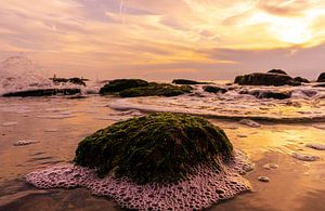 Sonnenuntergang an der Mole von Kristiaan Hartmann
