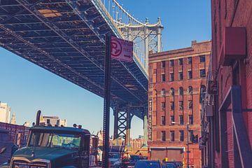 De bruggen in Dumbo New York 01 van FotoDennis.com