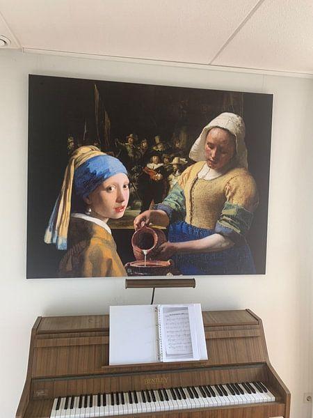 Kundenfoto: Das Mädchen mit dem Perlenohrgehänge - das Milchmädche - Johannes Vermeer von Lia Morcus