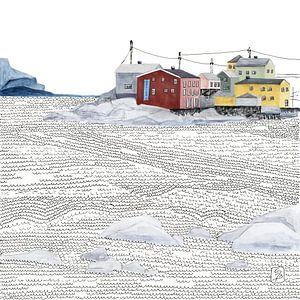 Norwegisches Fischerdorf Nyksund von Carmen de Bruijn