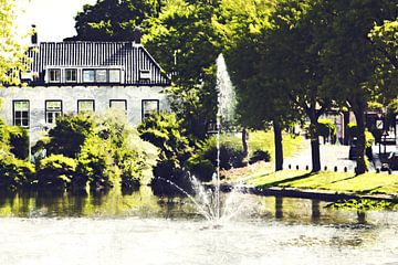 Fontein in 's-Gravendeel (Zuid-Holland) (kunstwerk) van Art by Jeronimo