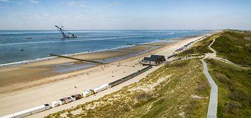 Overzichtsbeeld van het strand van Dishoek 2