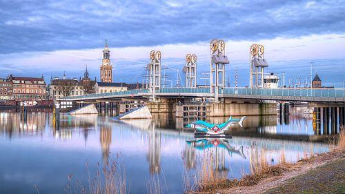 Hanzestad Kampen op de vroege morgen