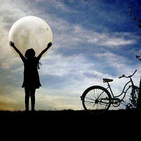 Das Mädchen und der Mond von Harald Fischer