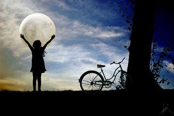 La fille et la lune sur Harald Fischer