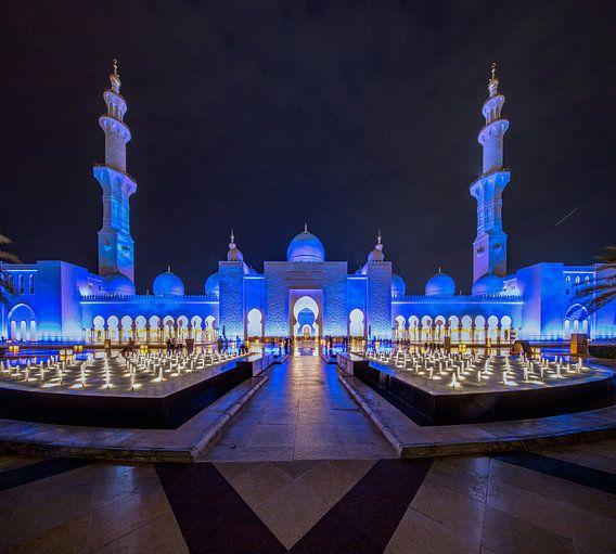 Fonteinen met water voor de  Sheikh Zayed Moskee van Rene Siebring