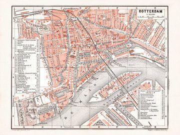 Karte Rotterdam - 1897