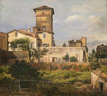 Szene aus der Villa Malta, Johan Christian Dahl
