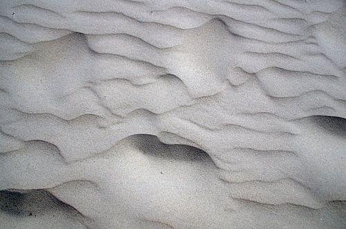Zandpatronen strand IJmuiden Nederland