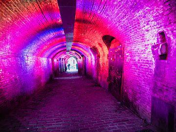 Kleurrijke fietstunnel in Utrecht van joost bosmans