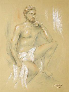 Apollo - mannelijke halve naakt van Marita Zacharias