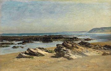 Carlos de Haes Ruhiger Meerblick, Riffblick, Antike Landschaft