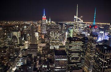Midtown Manhatan Skyline, New York van Maarten Egas Reparaz