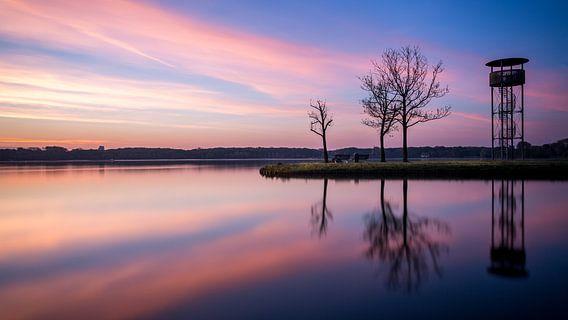 Kralingse plas met zonsopkomst IV van Prachtig Rotterdam