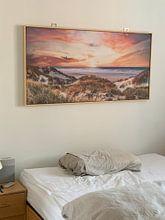 Klantfoto: Zonsondergang Terschelling van Julius Pot, op canvas