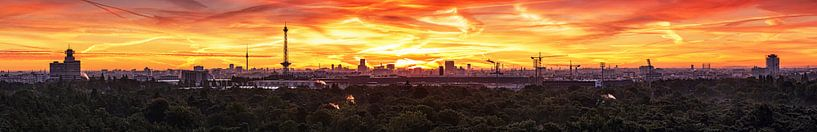 Panorama de la grande ville de Berlin sur Frank Herrmann