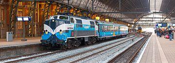 Panorama trein in Centraal Station Amsterdam van Anton de Zeeuw