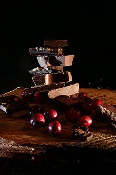Chocolat et canneberges sur Diana van Geel