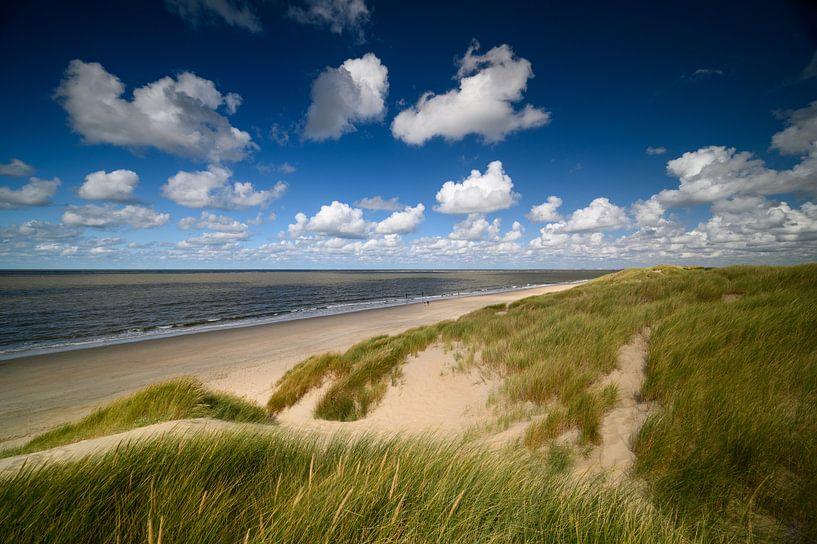 Hollandse luchten in de duinen met zicht op zee van Ellen van den Doel
