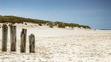 Ameland strand met golfbrekers van Tony Buijse