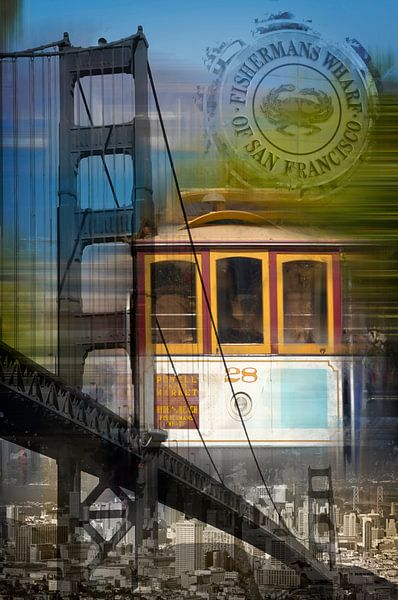 City-Art SAN FRANCISCO Collage van Melanie Viola
