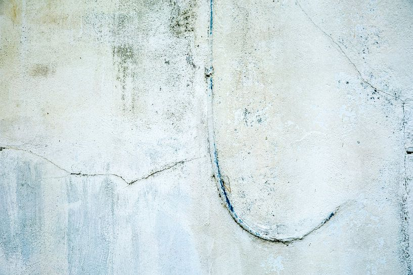 Muurabstract in wit - 2 van Hans Kwaspen