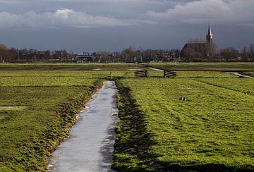 Schermerhorn met Hollandse wolken luchten von Sjaak van Etten
