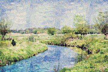 Le Watermolenbeek entre Roosendaal et Nispen (Brabant) (art) sur Art by Jeronimo