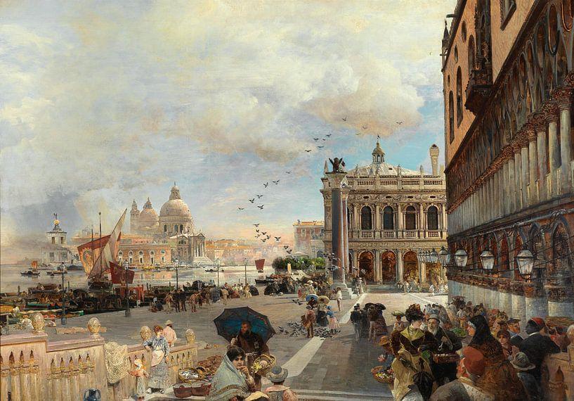 Oswald Achenbach.Venedig von 1000 Schilderijen
