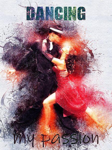 dansend van Printed Artings