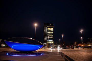 Almere bij Nacht van Brian Morgan
