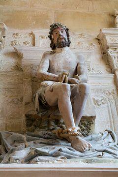 Christus beeld Beeldenstorm kerk Vignory van Peter Hermus