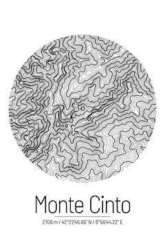 Monte Cinto | Kaart Topografie (Minimaal) van ViaMapia
